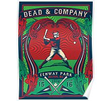 DEAD AND COMPANY SUMMER TOUR 2016 FENWAY PARK BOSTON ,MA Poster