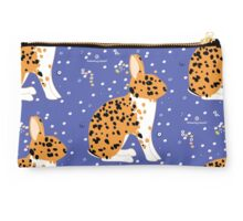 Black Spotted Japanese Rabbit Studio Pouch