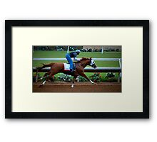 Kentucky Derby Winner California Chrome Framed Print