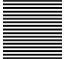 Horizontal Stripes Pattern - Black & White Photographic Print