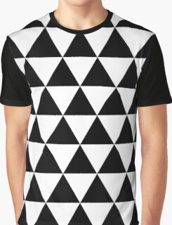 Triangle Pattern - Black & White Graphic T-Shirt