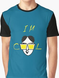 I m Cool Cartoon Vector Funny Design Graphic T-Shirt