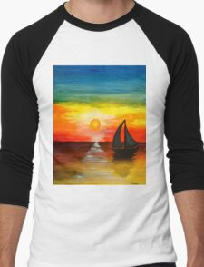 Tequila Sunset Men's Baseball ¾ T-Shirt