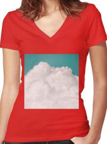 Dreaming Of Mountains Women's Fitted V-Neck T-Shirt