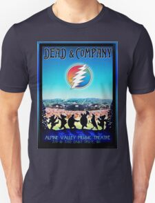 DEAD AND COMPANY SUMMER TOUR 2016 ALPINE VALLEY MUSIC THEATRE,EAST TROY,WI Unisex T-Shirt