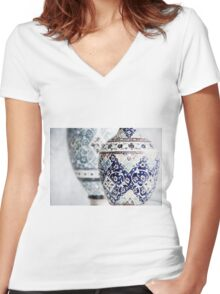 doublet Women's Fitted V-Neck T-Shirt