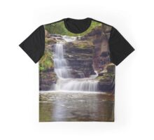 Gentle Summer Flow Over Murray Reynolds Falls Graphic T-Shirt