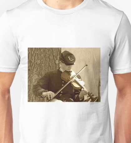 Civil War Fiddle Player Unisex T-Shirt