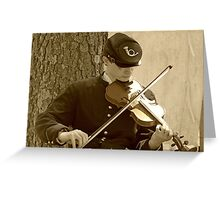 Civil War Fiddle Player Greeting Card