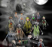 13 Zombies are here to Entertain You! by BizzyBzzz