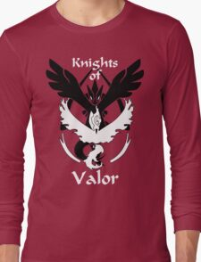 Knights of Valor, black and white Long Sleeve T-Shirt