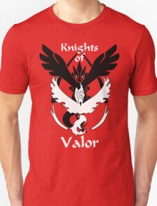 Knights of Valor, black and white Unisex T-Shirt
