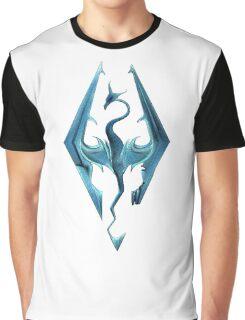 Skyrim blue logo Graphic T-Shirt