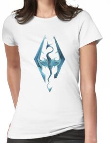 Skyrim blue logo Womens Fitted T-Shirt