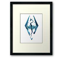 Skyrim blue logo Framed Print