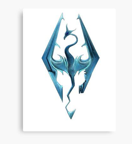 Skyrim blue logo Canvas Print