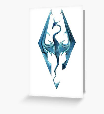 Skyrim blue logo Greeting Card