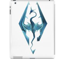 Skyrim blue logo iPad Case/Skin