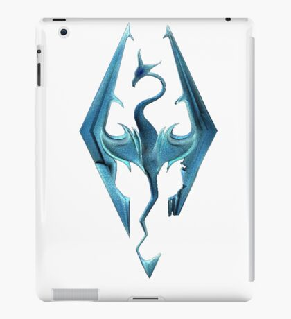 Skyrim blue logo iPad Case/Skin