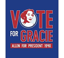Gracie Allen for President Photographic Print