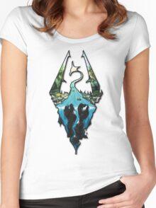 Custom Skyrim Logo Women's Fitted Scoop T-Shirt