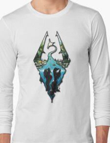 Custom Skyrim Logo Long Sleeve T-Shirt