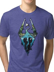 Custom Skyrim Logo Tri-blend T-Shirt