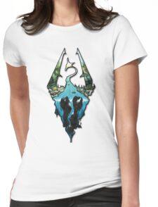 Custom Skyrim Logo Womens Fitted T-Shirt