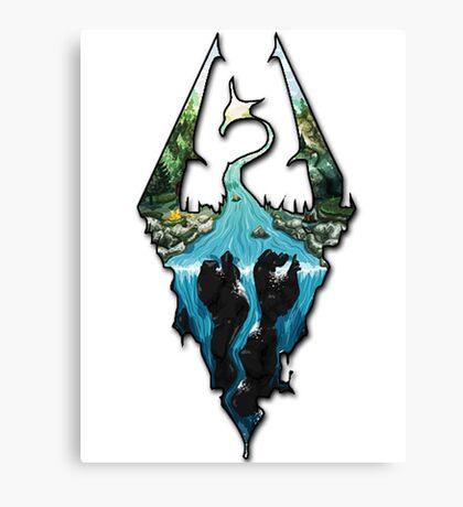 Custom Skyrim Logo Canvas Print