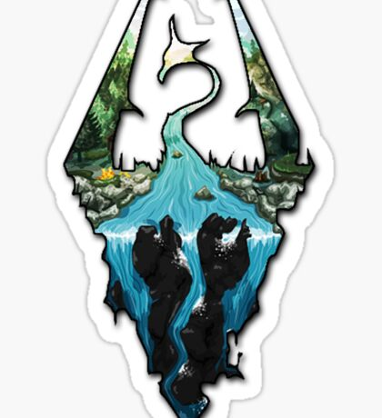 Custom Skyrim Logo Sticker