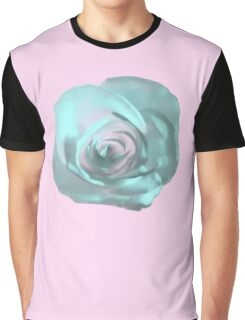 Soft Blue Rose Graphic T-Shirt