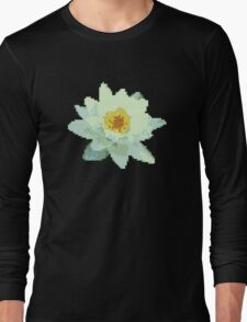 8bit lotus Long Sleeve T-Shirt