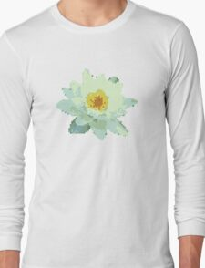 8bit lotus Long Sleeve T-Shirt