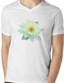 8bit lotus Mens V-Neck T-Shirt