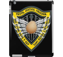 Truth, Justice, Freedom, and a hard boiled egg iPad Case/Skin