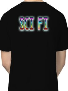 SCI FI, Science Fiction, Hard SF, Soft SF, on BLACK Classic T-Shirt