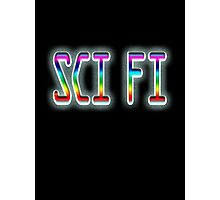 SCI FI, Science Fiction, Hard SF, Soft SF, on BLACK Photographic Print