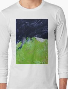 Brazil Lencois Maranhenses National Park Sao Marcos Bay Satellite Image Long Sleeve T-Shirt