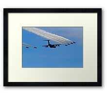 Airbus A400M Military Transport Aircraft  with the Red Arrows Framed Print