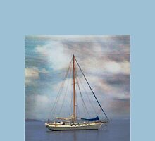 Boat on the River Tay Dundee Scotland. Unisex T-Shirt