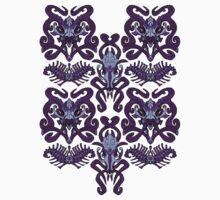 Monster Damask (purple) Baby Tee