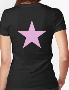 PINK, STAR, Girl Power, Stellar, Red dwarf, Pink on Black Womens Fitted T-Shirt