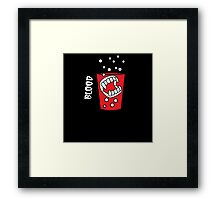 Vampire Tooth Brush and Glass Framed Print