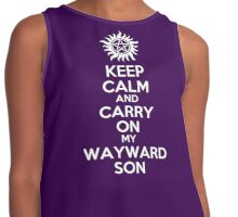 Keep Calm My Wayward Son (purple) Contrast Tank