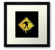 Zombie Crossing Xing Framed Print