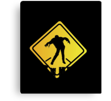 Zombie Crossing Xing Canvas Print