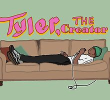 Tyler, The Creator on a couch by Hellmoo