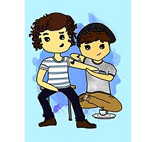 Harry and Louis- fanart Photographic Print