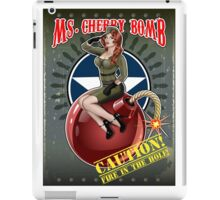 Ms. Cherry Bomb - military pin up girl  iPad Case/Skin