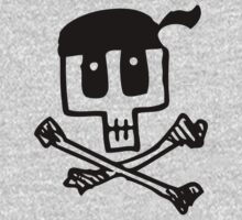 Cute Pirate Skull and Cross Bones by carolinaswagger